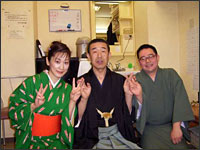 1月1日(元旦)上野広小路楽屋:神田蘭さんと昔昔亭喜太郎さんと伸治