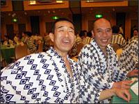 鯉昇師匠と:8月31日 噺塚の供養の後のパーティーにて 浅草ビューホテル
